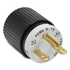 nema plugs nema 6 15 plug 15a 250vac 2 pole 3 wire