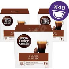 It's prepared with the same amount of finely ground coffee and twice the water of a normal espresso. Nescafe Dolce Gusto Caffe Lungo Intenso 3 Pack Coffee Capsules Alzashop Com