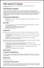 Analyst Resume Template Best Of PMO Analyst CV Sample MyperfectCV