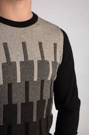 New Sweater Design For Man Skyline Gents Hand Intarsia Cashmere Sweater Made To Order