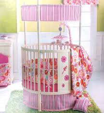 Image of: Girls Round Crib Bedding Sets