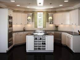 One Wall Kitchen U Shaped Kitchen Layout One Wall Kitchen With Island Designs