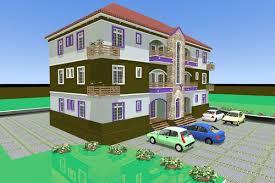3d architectural building plan design