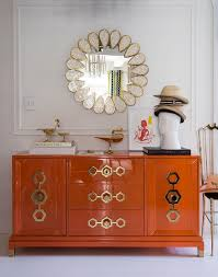lacquered furniture. brighten up your foyer with a splash of orange the jonathan adler turner collection is decorationsmodern foyerlacquer furnitureorange lacquered furniture w