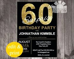 Anniversary Party Invites Template Best Of 60th Birthday Invitation