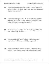 6th Grade Math Word Problems Worksheets : Kelpies