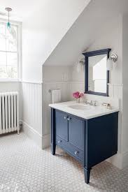 navy bathroom decorating ideas charming vintage cottage farmhouse home with blue vanity cabinet