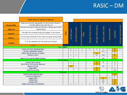 Six Sigma Raci Chart Rasic Example From A Six Sigma Project