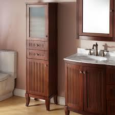 Bathroom Furniture Cherry Wood White Gloss Freestanding Glass Rustic  Bathroom Countertop Storage Cabinets Sliding Door Tall Laminate Corner  Storage Side ...