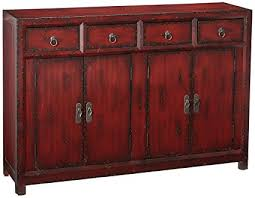 Amazoncom Hooker Furniture 58 Red Asian Cabinet Hand Painted