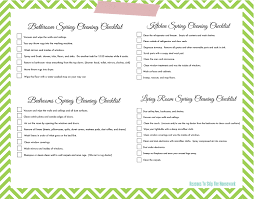 cleaning checklists naptime spring cleaning checklist tip junkie