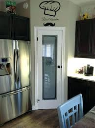 painted pantry door stained glass etched in corner space with white farmhouse ideas pantr glass pantry doors