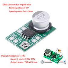 DC 3V~12V 5V 6V LM386 mini micro audio power amplifier ... - Vova