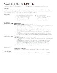 Examples Of Resumes For Receptionist Cover Letter Medical Adorable Receptionist Resume Examples
