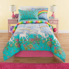 girls twin sheet set rainbows unicorns girls full comforter set 8 piece bed in a bag