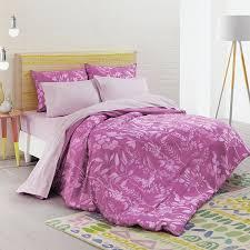 details about bluebellgray fleur king cerise pink duvet cover sheet set 465 6 piece