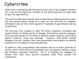 what is cybercrime and types of cybercrime presenttechnologyarticle computer misuse 666666