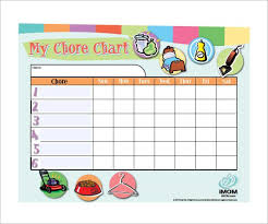 Calendar Chore Chart Template Weekly Chore Chart Template 11 Free Word Excel Pdf