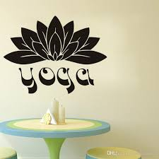 yoga wall stickers flowers vinyl adhesive stickers home decor namaste lotus wall decals bedroom wall art murals wall mural decal vinyl art stickers from