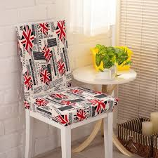 chair cover union jack dinner chair cover for kitchen wedding banquet decorative grid flower modren spandex