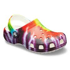 Crocs Classic Tie Dye Graphic Uk Sale Clogs Kids Multicolor