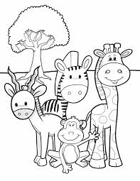 Small Picture Animal coloring pages for kids Safari friends Free printable