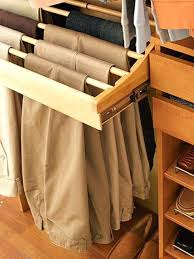 pull out pant rack can install special pant racks that pull out for easy hanging and