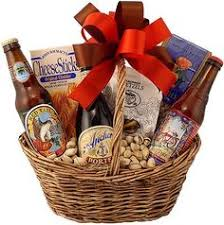 idea to get a basket and make something similar for v day with beers snacks chocolates and other valentine s gifts