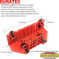 duratec dt812 clamping miter box