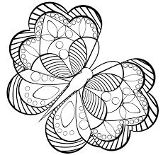 New Easy Butterfly Adult Coloring Pages Design Printable