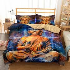 2019 3d big buddha pattern printed bedding sets all sizes pillow case quilt cover bed sheets duvet cover from molahome 34 96 dhgate com