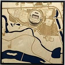 Autzen Stadium Seating Chart Amazon Com Eugene Oregon City Map By Stadium Map Art