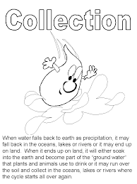 Simple Water Cycle Coloring Sheet Pa Gco Coloring Home