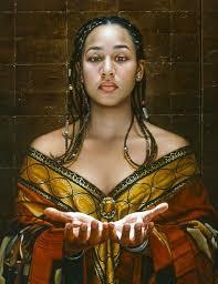 trust duffy sheridan oil on canvas contemporary artist figurative realism female trustblack art