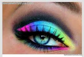 lunatic vixen tutorial 80s eye makeup 80s eye makeup ideas soft neon rainbow makeup tutorial tutorialseyeshadow