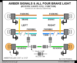 chet s avalanche pages amber turn signals using the backup lights plus all four brake lights