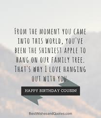 Cousin Birthday Quotes Delectable Happy Birthday Cousin 48 Ways To Wish Your Cousin A Super Birthday