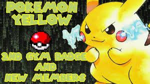 Pokemon Yellow #3 2nd Gym Badge and 2 New Members - YouTube