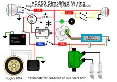 simple harley wiring diagram for motorcycles images harley xs650 street tracker cafe racers and
