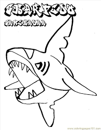 Small Picture Pokemon Shark Coloring Page Free Shark Coloring Pages