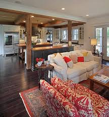 open floor plan flooring living room traditional with farmhouse style traditional pendant lights