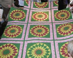 21 best quilt sashing ideas images on Pinterest | Quilt block ... & red and white quilt sashing | Red and green sunflower, triple sashing,  double pink Adamdwight.com