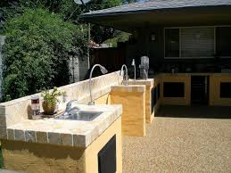outdoor kitchen concrete countertop awesome bar unique collection outside sink ideas gallery countertops budget granite flexible cutting board soapstone