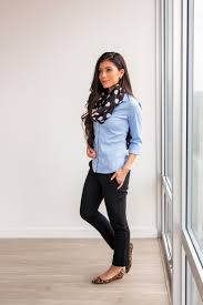 Light Blue Work Pants Outfit Ways To Wear A Scarf How To Tie A Scarf The Definitive Guide