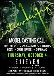 Bottle Service Resume New Model Casting Call Tickets At E48EVEN Miami In Miami By 48 Miami Tixr