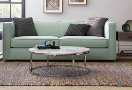 furniture round marble top coffee table from cb2