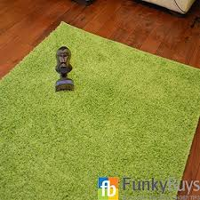funkys lime green luxury branded rug large xl size thick polypropelene soft gy rugs non shed modern high pile 66 x 110cm 2ft 3 x 3ft 7