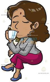 drinking coffee clipart. Beautiful Clipart An Indian Woman Drinking Coffee Inside Clipart N