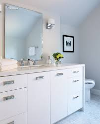 modern white bathroom cabinets. polished nickel hardware modern white bathroom cabinets y