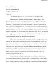 interpretive essay interpretive analysis art history  4 pages ramakrishnan c 2nd paper